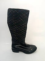 Женские резиновые сапоги черного цвета, фото 1