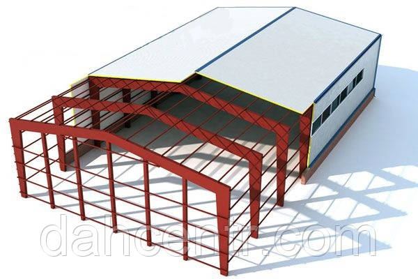 Склад 12х30 балочный, ангар, каркас, навес,фермы, помещение,цех,здание