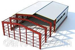 Склад 12х48х5 балочный, ангар, каркас, навес,фермы, помещение,цех,здание