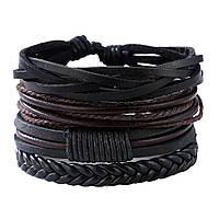 Плетеный браслет, многослойный, фото 1