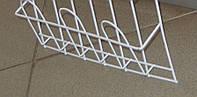 Полка для торговли рекламной продукцией навесная корзиночная 1 ряд 3 ячейки, фото 1