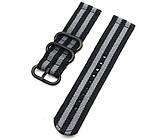 Нейлоновый ремешок Primo Traveller для часов Samsung Galaxy Watch 42 mm (SM-R810) - Black&Grey, фото 2