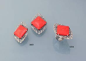 Кольцо из серебра с реконструкцией карала., фото 2