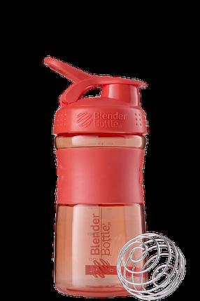 Спортивная бутылка-шейкер BlenderBottle SportMixer 590ml Coral (ORIGINAL) , фото 2