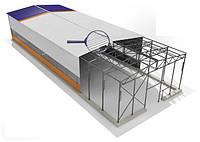 Здание-ангар под производство 15х60х5 с прогонами и профінастилом , фото 1