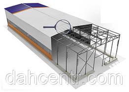 Здание-ангар под производство 15х60х5 с прогонами и профнастилом