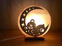 """Соляной светильник """"Мишка на месяце"""", фото 1"""
