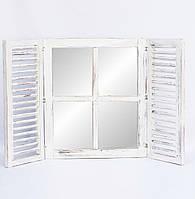Зеркало со ставнями 60х70 см, белое, фото 1