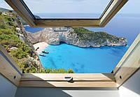 Фотообои флизелиновые 3D 368x254 см Вид из мансардного окна (10393V8)
