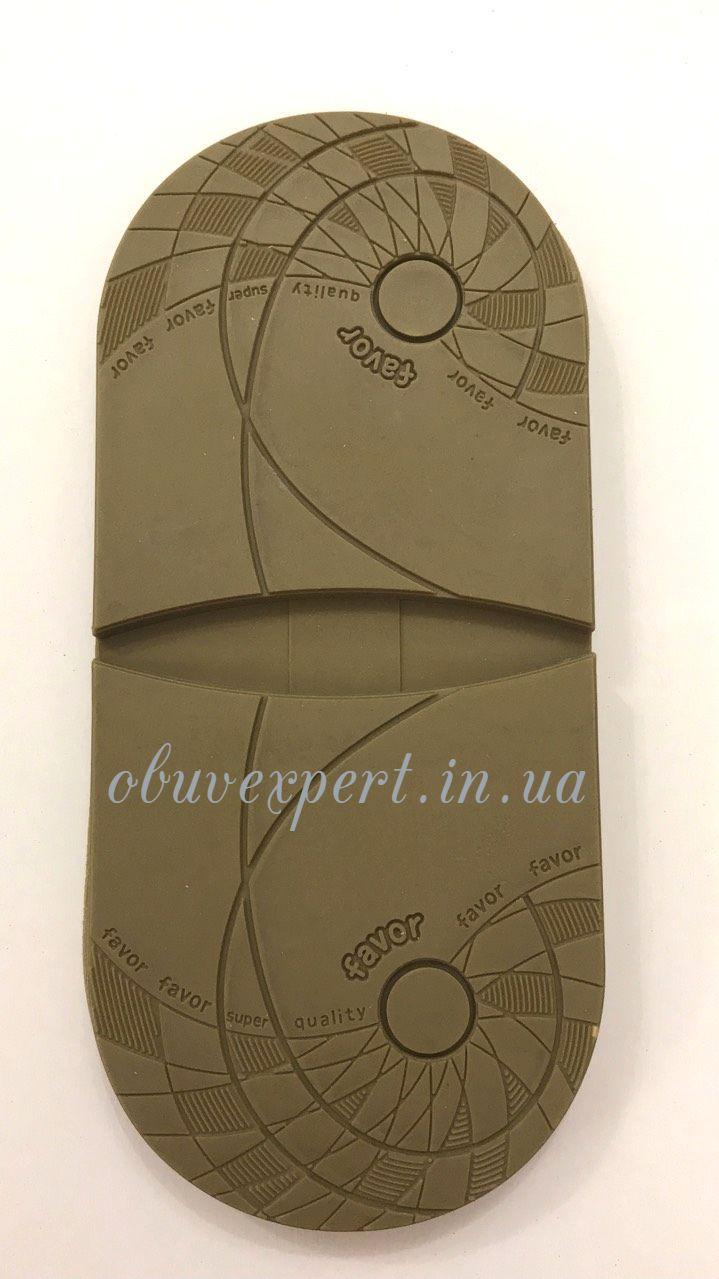 Набойка мужская FAVOR, арт. H-023, т. 6,6 мм, р. средн, светло-коричневый