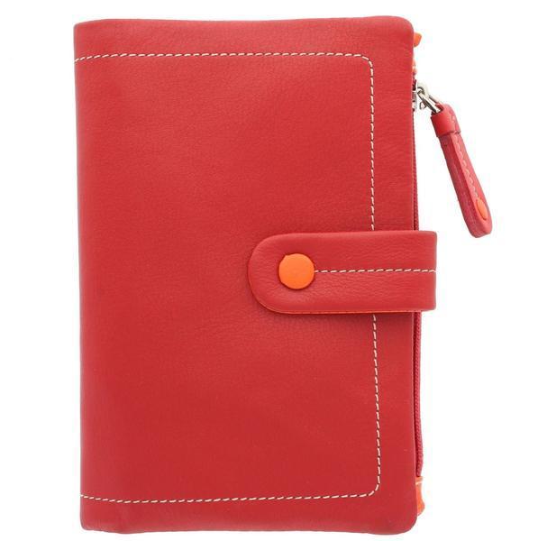 Женский кошелек кожаный красный Visconti M-87 Red multi