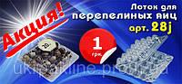 Упаковка для перепелиных яиц арт. 28 j