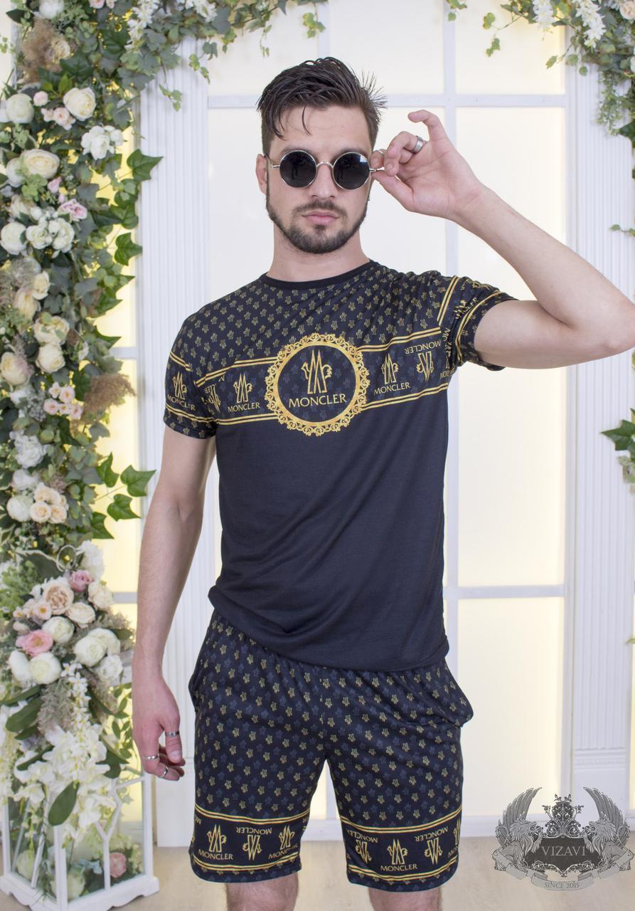 Мужской модный спортивный костюм летний: футболка и шорты
