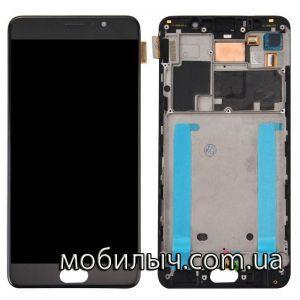 Дисплей Meizu Pro 7 (M792H) с тачскрином черный в рамке TFT