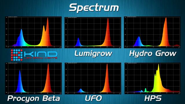 Цветовой спектр излучаемого света разными типами ламп
