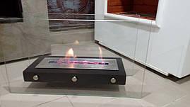 Біокамін камін метал 2 скла loft для терраси квартири ресторану камин биокамин