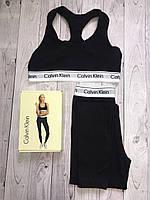 Набор спортивный Calvin Klein (топ+леггинсы), черный М