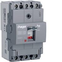Вимикач автоматичний 3p, 63А, 18kA (HDA063L) Hager