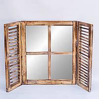 Зеркало со ставнями 60х70 см, коричневое, фото 1