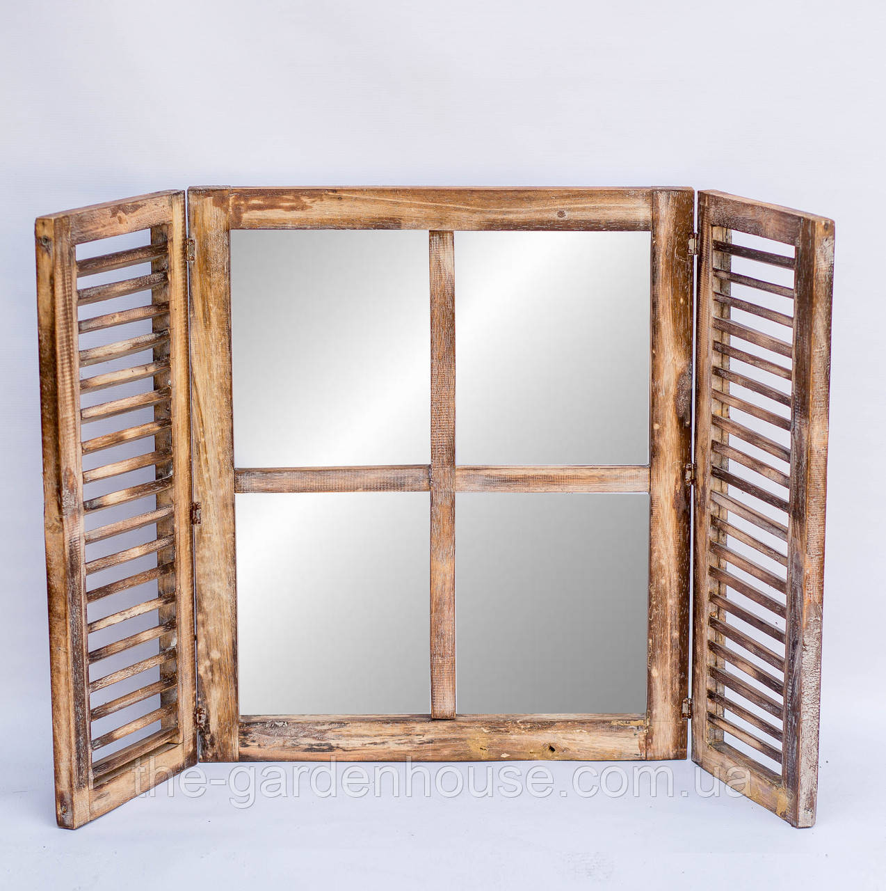 Зеркало со ставнями 60х70 см, коричневое