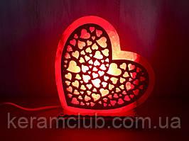 """Соляная лампа """"Сердце большое"""""""