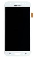 Дисплей (экран) для Samsung J500H, Galaxy J5 (2015) + тачскрин, белый, копия, с регулировкой яркости