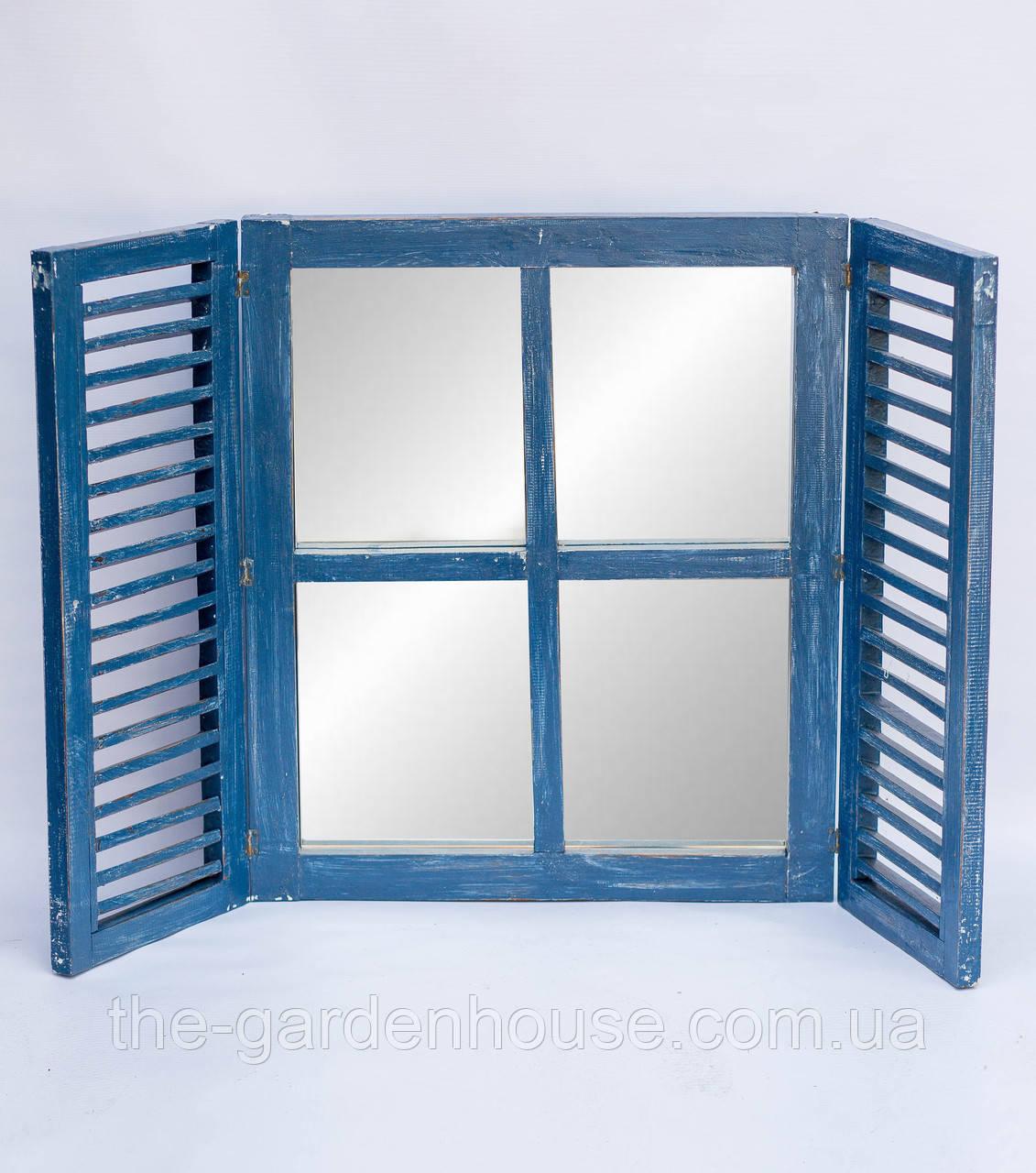 Зеркало со ставнями 60х70 см, синее