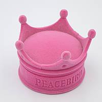 """Футляр под кольцо """"Корона"""" розовая"""