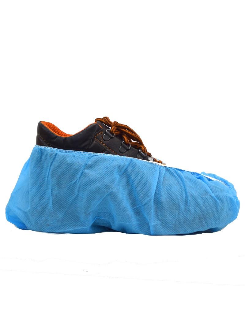 Бахилы нетканые полипропиленовые синие с усиленным швом N402