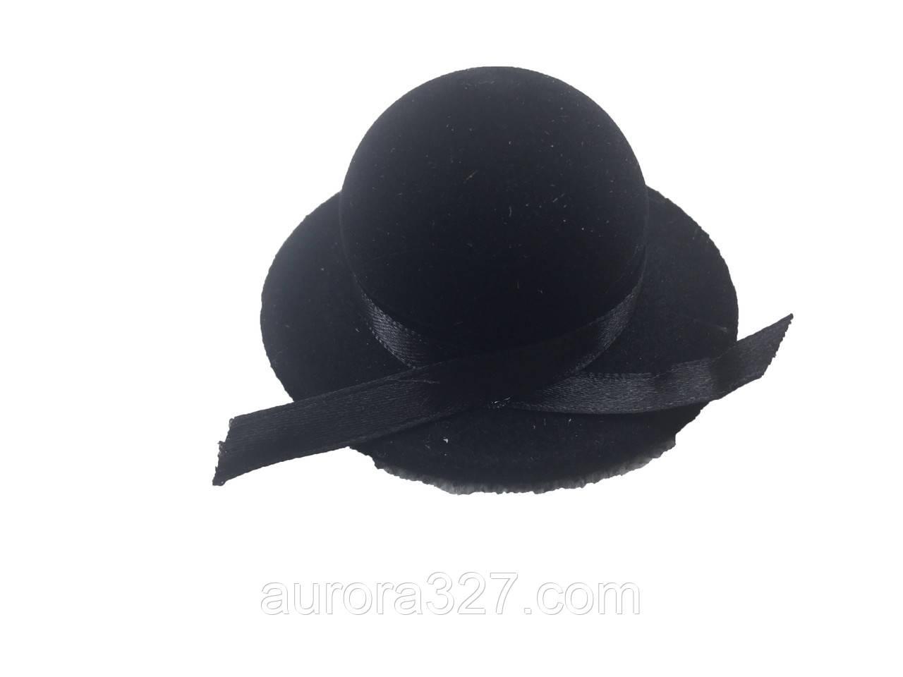 """Футляр под кольцо """"Шляпа"""" черная"""