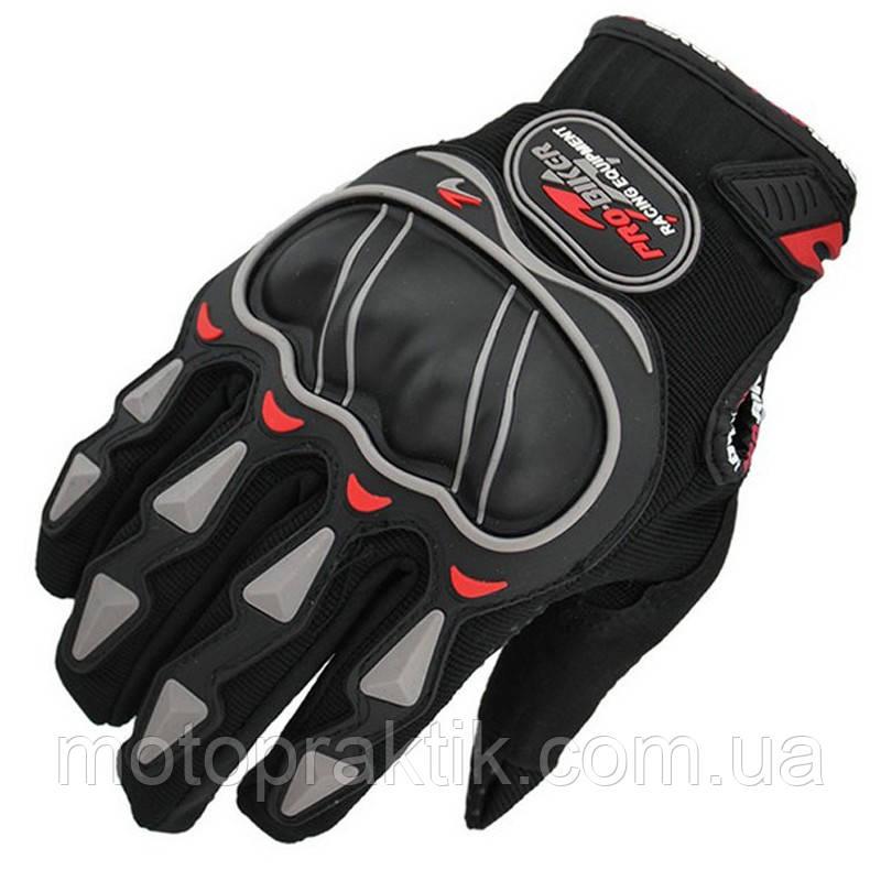 Pro-Biker MCS-03, Black, M, Мотоперчатки текстильные с защитой
