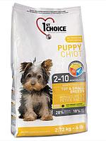 Сухой корм ФЕСТ ЧОЙС 1st Choice Puppy Toy&Small Chicken для щенков мелких пород с курицей 2,72 кг