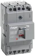 Вимикач автоматичний 3p, 80А, 18kA (HDA080L) Hager