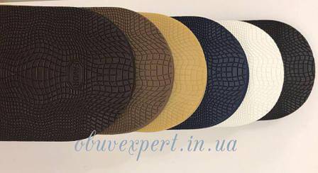Набойка мужская FAVOR-рептилия, т. 6,6 мм, разм. 90*85 мм, цв.коричневый, фото 2