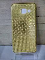 Силиконовый чехол золотой Samsung Galaxy A310 (A3-2016)