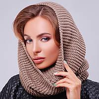 Стильний зимовий шарф-хомут в'язаний