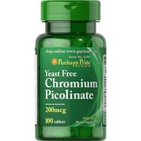 Хром Пиколинат (Chromium Picolinate) (200мкг) 100таб., фото 1