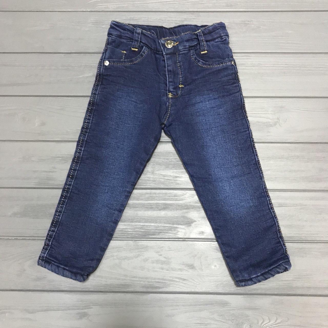 Детские джинсы на меху для мальчиков 5-8 лет оптом f866a33e603a9