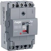 Выключатель автоматический 3p, 100А, 18kA (HDA100L) Hager
