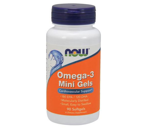 NOW_Omega-3 Mini Gels 500 мг - 90 софт кап