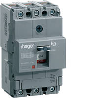 Вимикач автоматичний 3p, 125А, 18kA (HDA125L) Hager