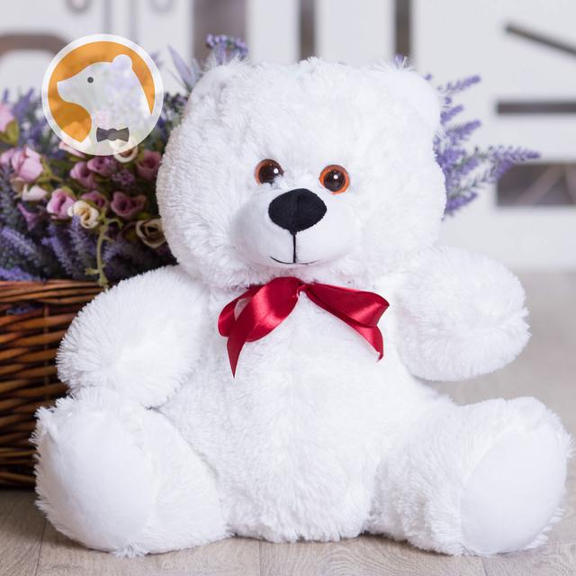 Белый плюшевый медвежонок Малыш, 60 см