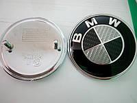 Эмблема BMW  карбон  83 мм в сборе, фото 1