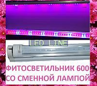 Светодиодный ФитоСВЕТИЛЬНИК 600 мм 8 Вт сменная фитолампа лампа для растений