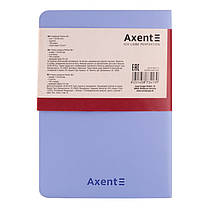 Книга записная Axent Partner Soft Mini 8302-07-A, А6, 80 листов, клетка, голубая, фото 3