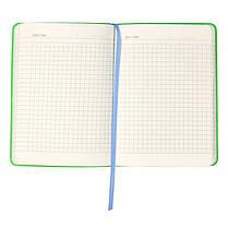 Книга записная Axent Partner Soft Mini 8302-07-A, А6, 80 листов, клетка, голубая, фото 2