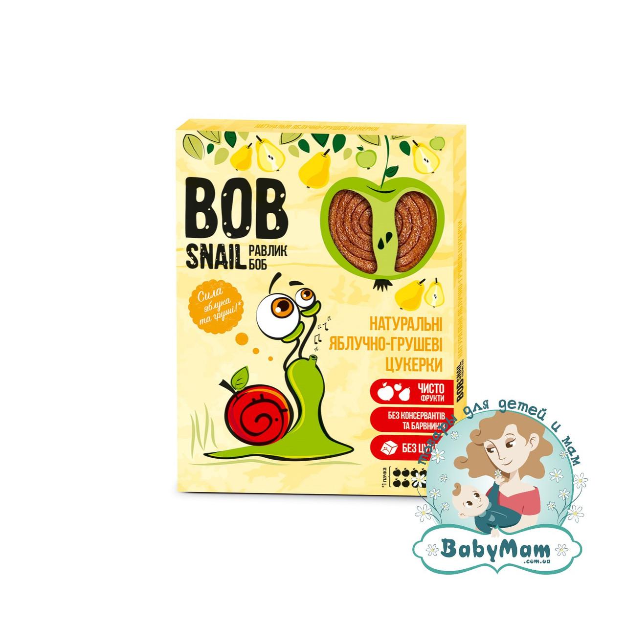 Конфеты натуральные Bob Snail (Равлик Боб) Яблочно-Грушевые, 120гр
