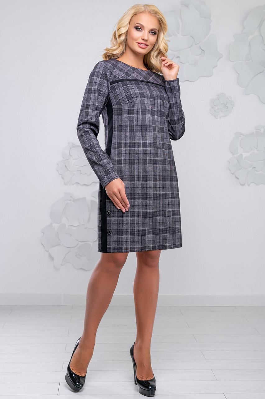 c7954f745c9 Красивое женское платье в клетку 50-54р