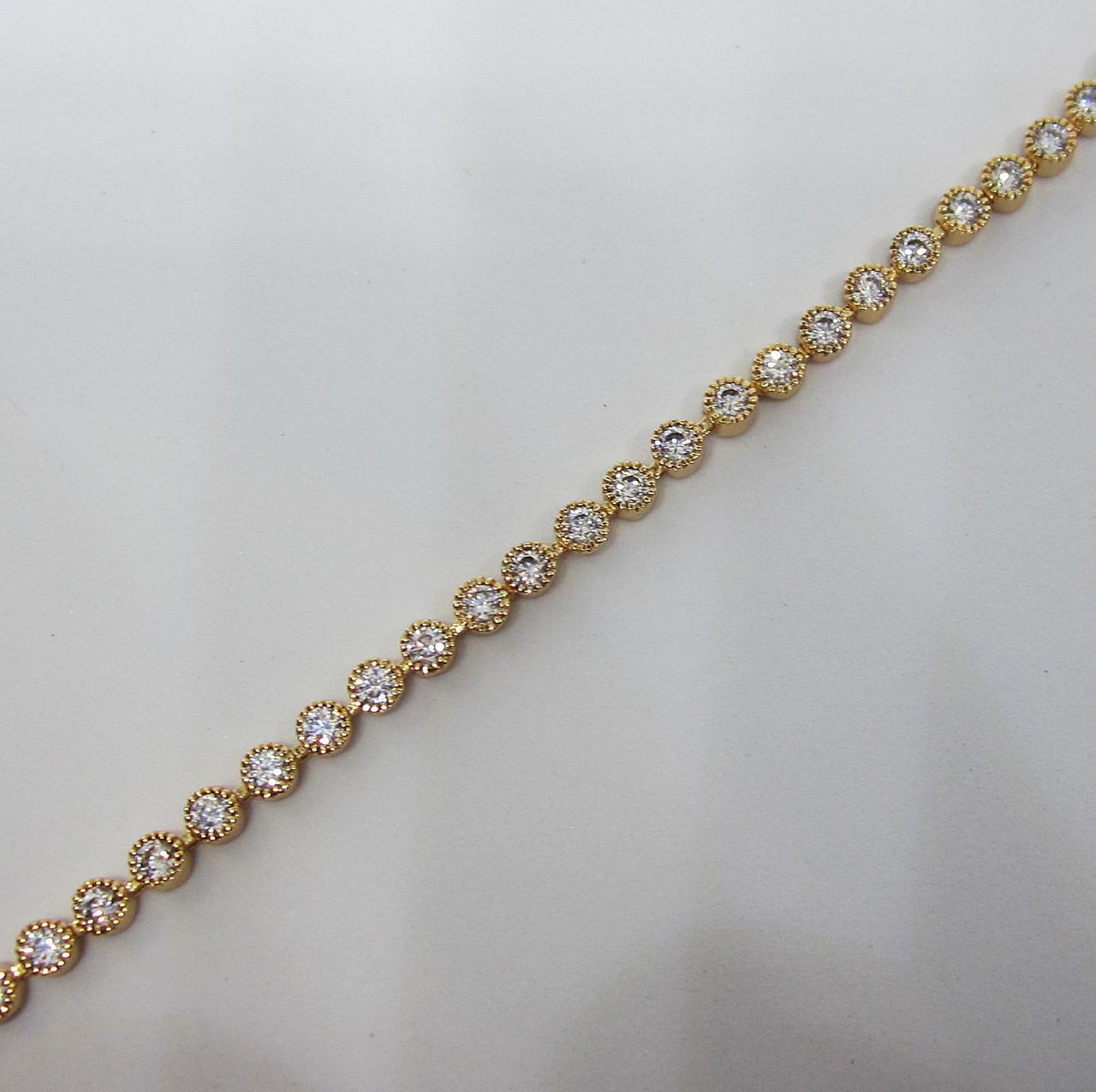 Браслет с камнями XP длина 18 см ширина 0.3 см