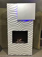 Біокамін камін виконаний з 3d панелей камин биокамин